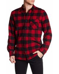 Indigo Star Front Button Long Sleeve Flannel Shirt