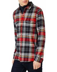 Topshop Plaid Flannel Regular Fit Shirt