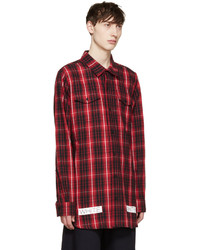 299a54a91d4b ... Off-White Red Black Flannel Check Shirt ...
