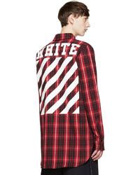 ce5e0aca5c7d ... Off-White Red Black Flannel Check Shirt