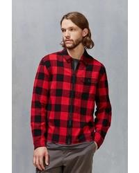 Stapleford Buffalo Plaid Flannel Zip Shirt