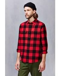 Urban Outfitters Stapleford Herringbone Buffalo Plaid Flannel Workshirt