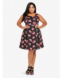 cd8540809b ... Torrid Floral Print Pleated Tank Dress ...