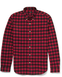 Red and Black Gingham Long Sleeve Shirt