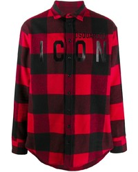 DSQUARED2 Plaid Button Front Shirt