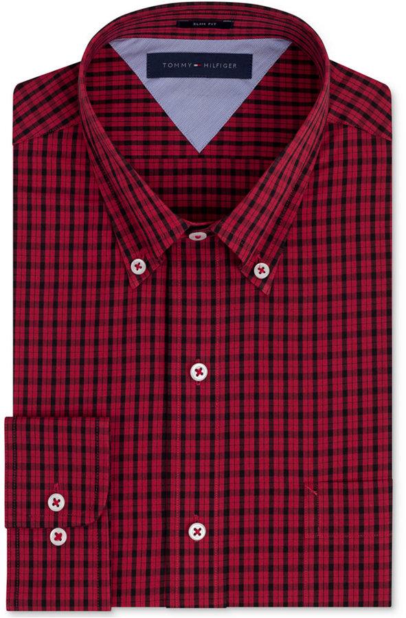 Check dress shirt images galleries for Men s red gingham dress shirt