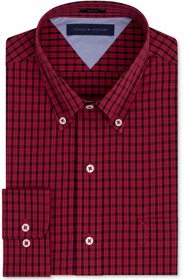 Red And Black Gingham Long Sleeve Shirt Tommy Hilfiger
