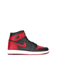 aa213cc143a88d Men s Red and Black High Top Sneakers from farfetch.com