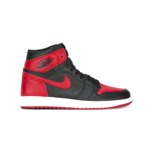 espía Máxima conjunto  Nike Air Jordan 1 Retro High Og Banned Sneakers, $300 | farfetch ...