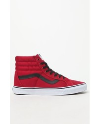 0bb5df73df2 ... Vans Canvas Sk8 Hi Reissue Red Black Shoes ...