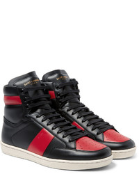f71aaaf3e749 ... Saint Laurent Sl10 Leather High Top Sneakers ...