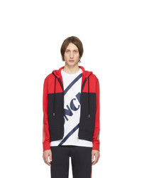 Moncler Red And Black Maglia Cardigan Hoodie