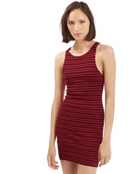 Topshop Stripe Body Con Dress