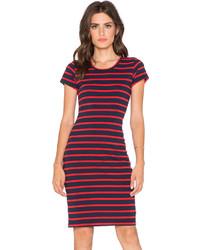 Sundry Short Sleeve Stripe Dress