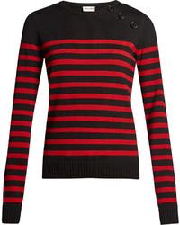 Saint Laurent Breton Striped Wool Sweater
