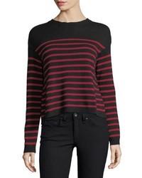 Redvalentino striped sweater w jacquard wings star embroidery medium 6720197