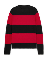 RE/DONE Striped Wool And Cashmere Blend Sweater