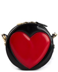 Red and Black Leather Crossbody Bag