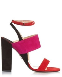 Colour block suede sandals medium 450246