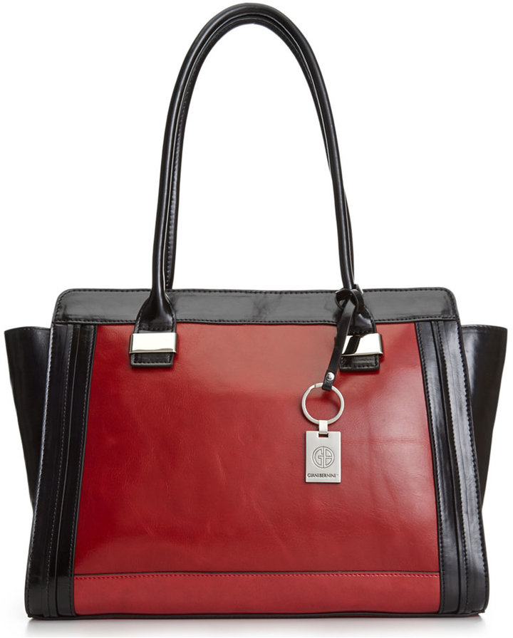 ... Giani Bernini Florentine Glazed Leather Tote ...