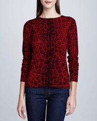 Cashmere collection leopard print cashmere sweater medium 85339