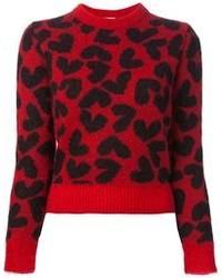 Saint Laurent Heart Print Sweater