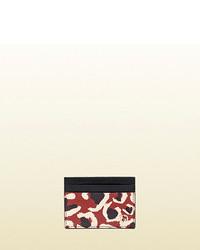 Gucci leopard print leather card case medium 106159