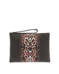 Mcq alexander mcqueen pixel leopard print leather clutch medium 106158