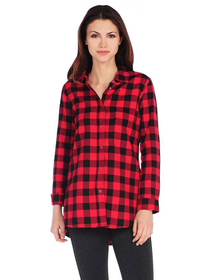 9ee1e5f2 RD Style Buffalo Plaid Shirt, $70 | Pink Mascara | Lookastic.com