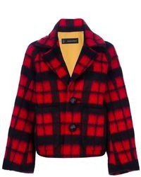 Red and Black Plaid Jacket