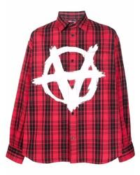 Vetements Anarchy Check Print Shirt