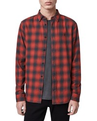 AllSaints Catalpa Slim Fit Buffalo Check Button Up Shirt