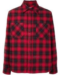 Off-White Check Print Long Sleeve Shirt