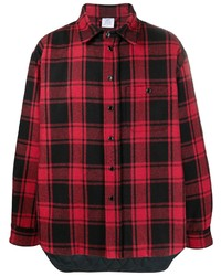 Vetements Checked Logo Patch Shirt