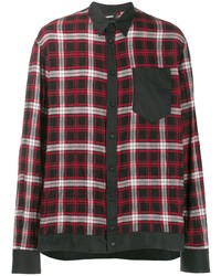 DSQUARED2 Contrast Trim Plaid Shirt