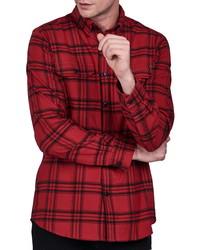 Barbour International Plaid Button Up Shirt