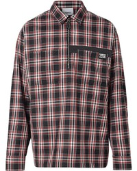 Burberry Logo Detail Check Wool Twill Shirt