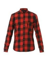 Mcq alexander mcqueen raw pocket checked shirt medium 58937