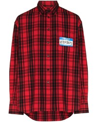 Vetements My Name Is Plaid Shirt