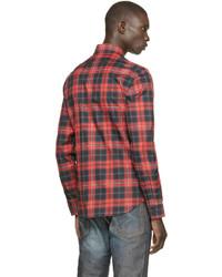 768769aa2244 ... Givenchy Red Black Plaid Shirt