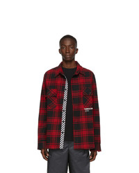Off-White Red Quote Flannel Shirt