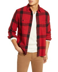 Madewell Windowpane Heavyweight Twill Long Sleeve Workshirt