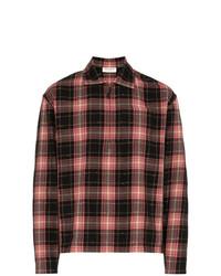 Saint Laurent Zip Check Print Shirt