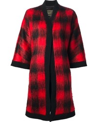 Fausto puglisi checked kimono style cardigan medium 113075