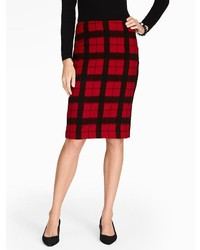Talbots windowpane plaid pencil skirt medium 371646