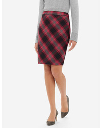 The limited soft plaid pencil skirt medium 371648