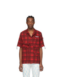 Off-White Red Check Voyager Short Sleeve Shirt