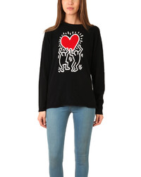 Lucien Pellat-Finet Keith Haring Red Heart Sweater