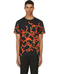 Christopher Kane Black Red All Over Molecule T Shirt