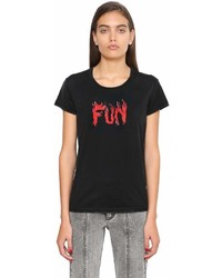 Givenchy Fun Print Cotton Jersey T Shirt
